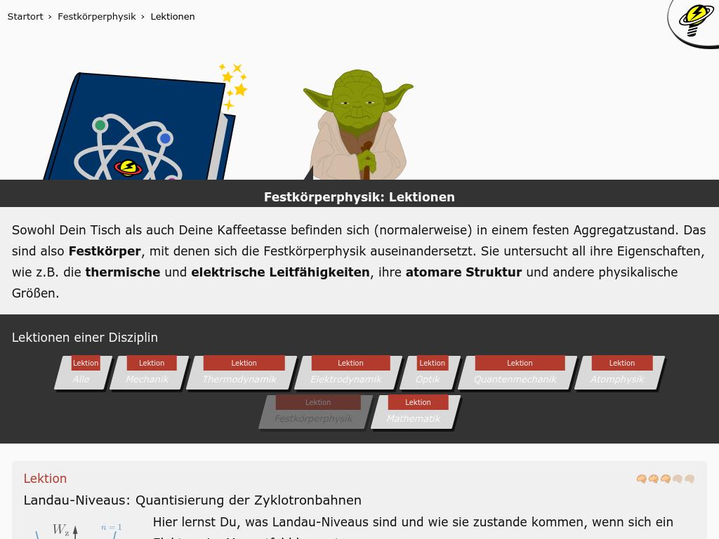 Cover: Festkörperphysik: Lektionen kostenlos / werbefrei