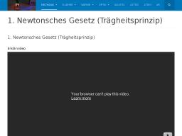 Cover: 1. Newtonsches Gesetz (Trägheitsprinzip) Erklärvideo und ein Video mit einem Experiment