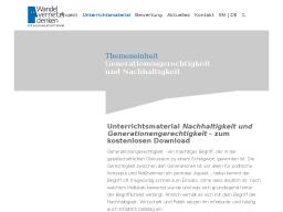 Cover: Nachhaltigkeit und Generationengerechtigkeit