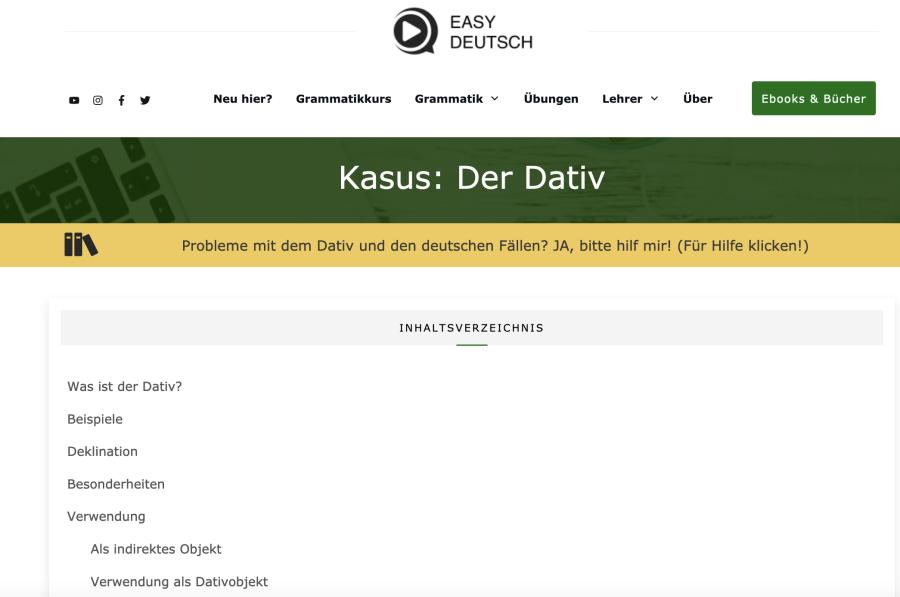 Cover: Der Dativ