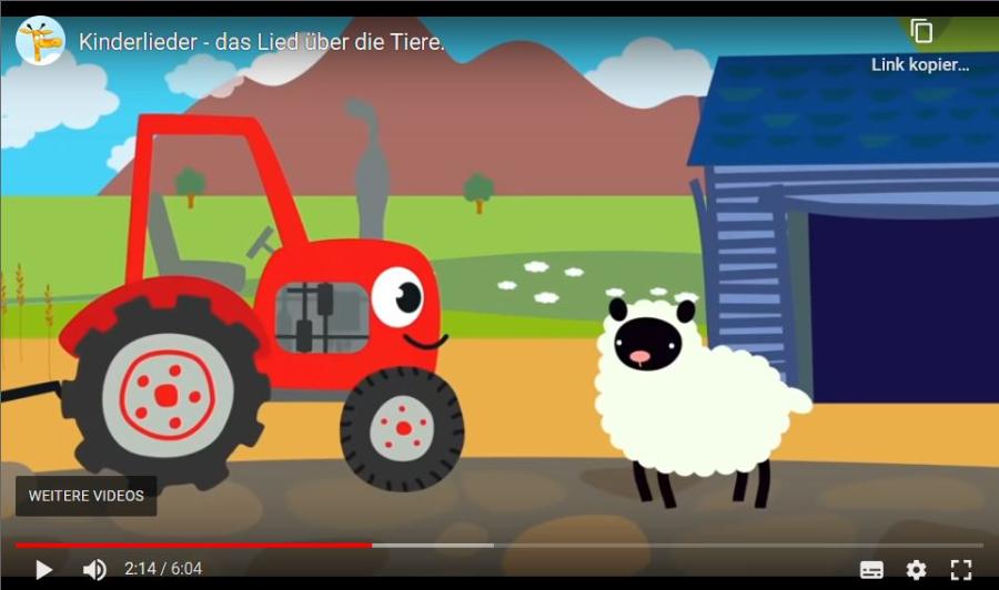 Cover: Kinderlieder   Das Lied über die Tiere