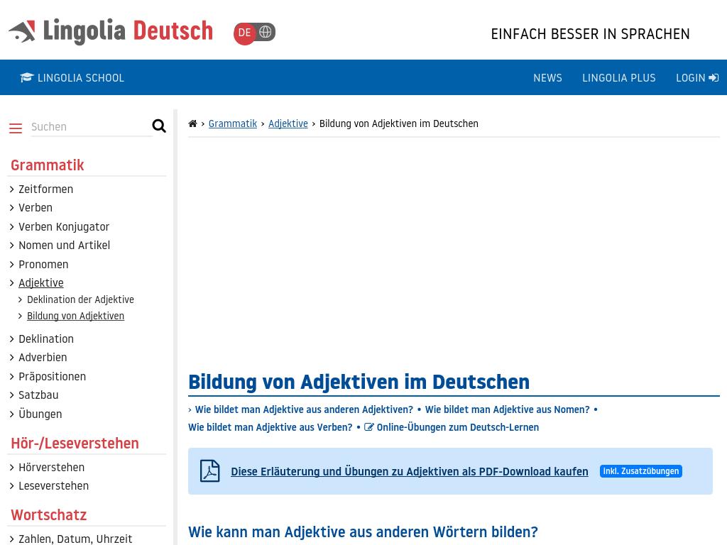 Cover: Bildung von Adjektiven im Deutschen
