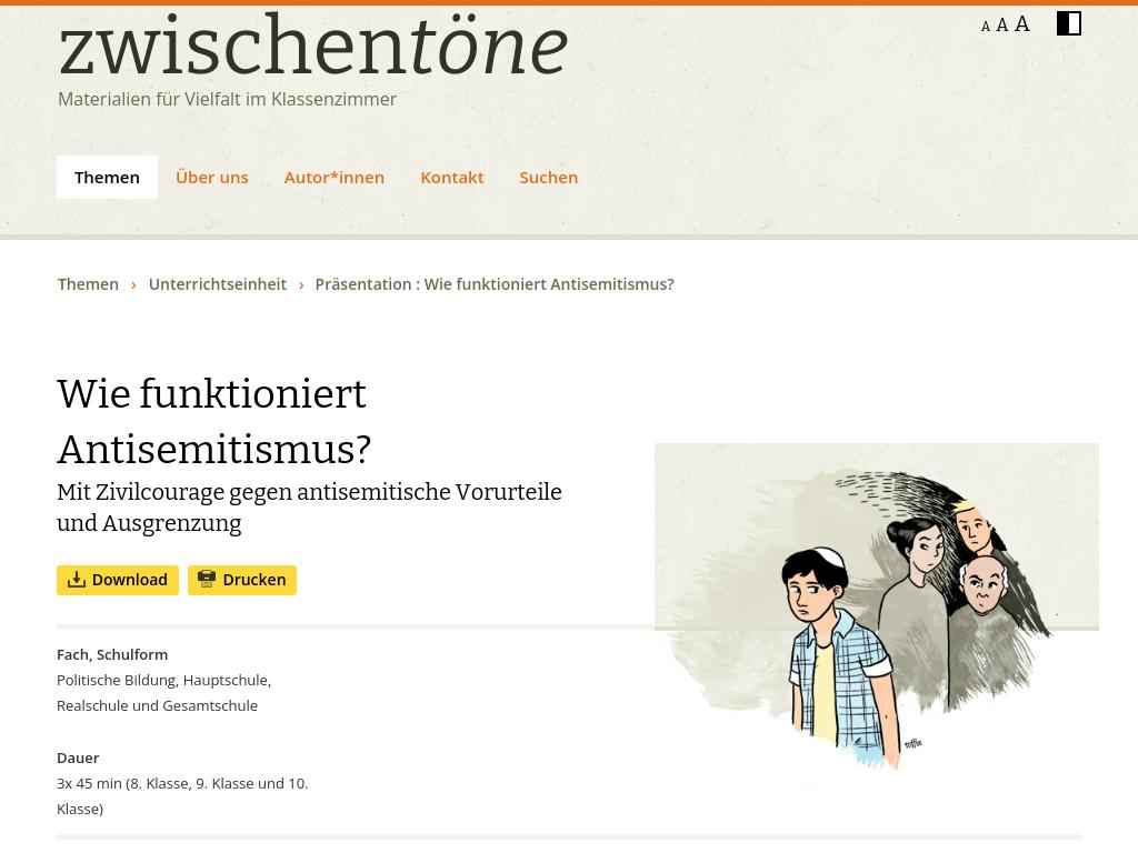 Cover: Wie funktioniert Antisemitismus? - Unterrichtsreihe