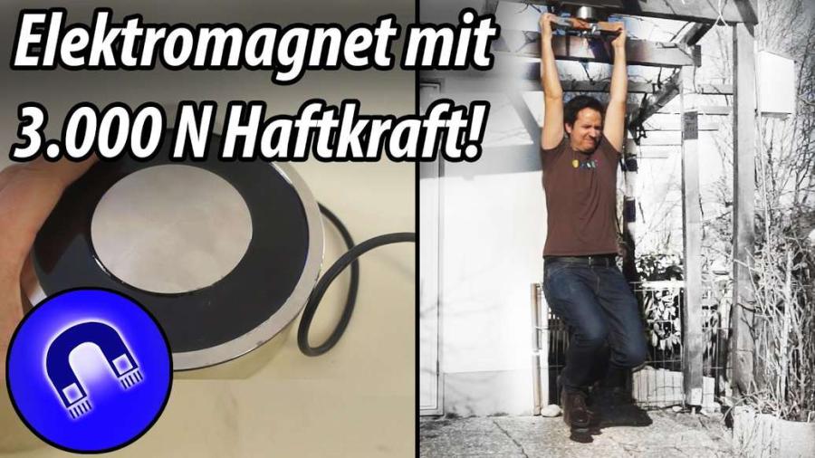 Cover: 3.000 Newton Elektromagnet vs. Körpergewicht!