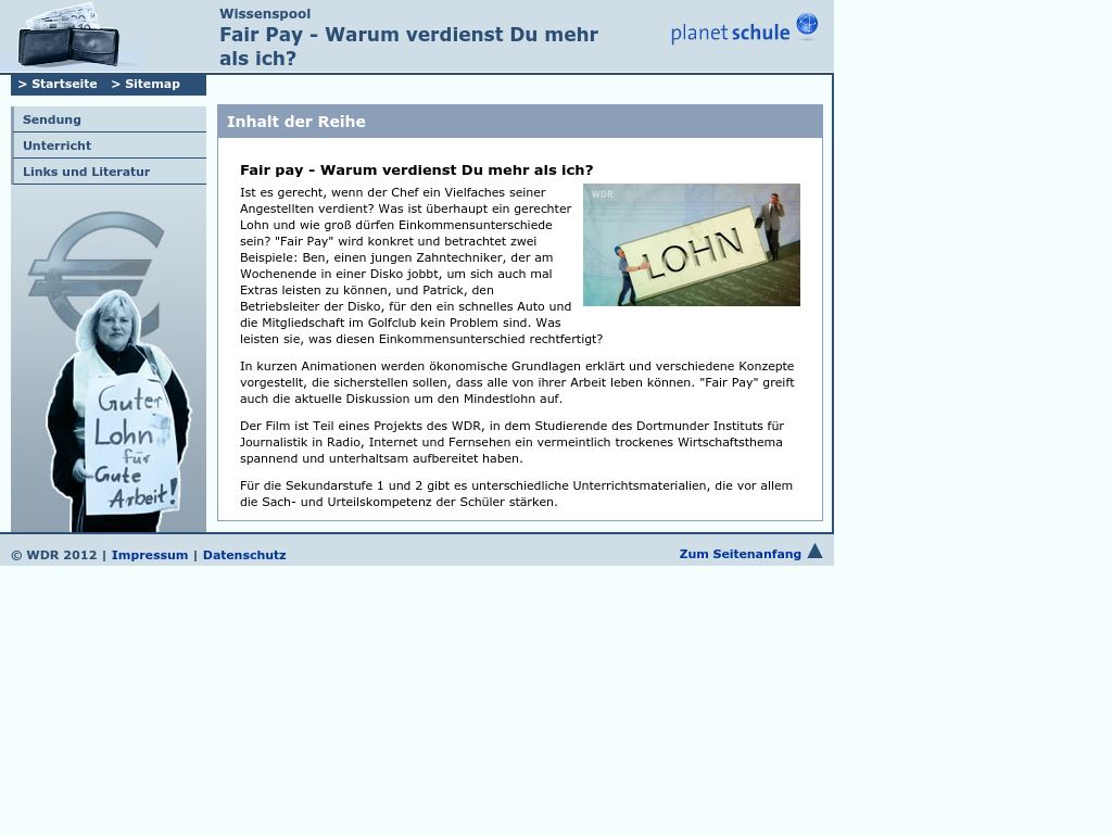Cover: Inhalt   Fair Pay    Wissenspool