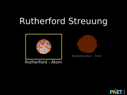 Cover: Rutherford Streuung