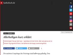 Cover: Allerheiligen kurz erklärt - katholisch.de