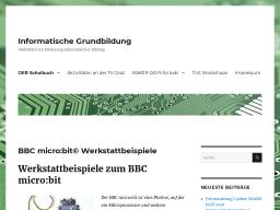 Cover: BBC micro:bit© Werkstattbeispiele – Informatische Grundbildung