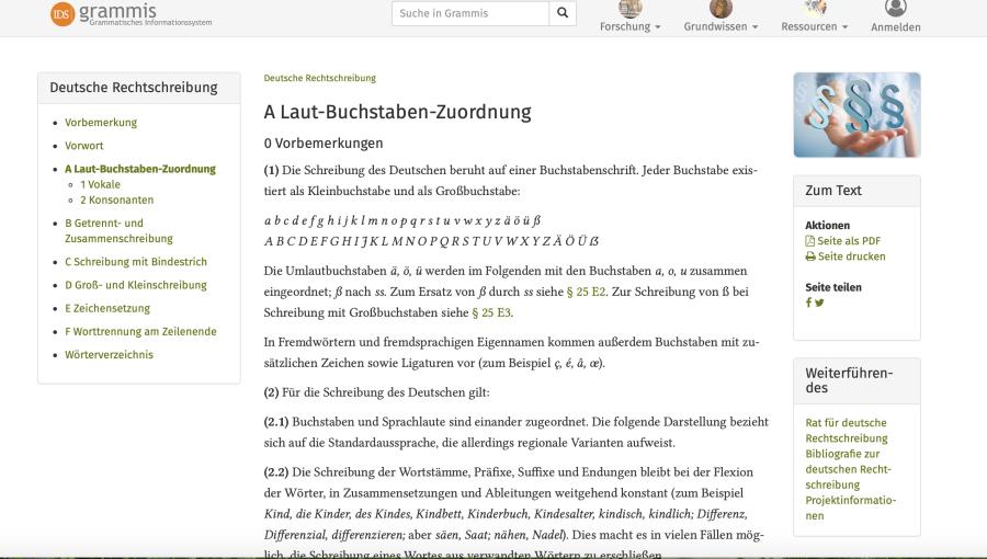 Cover: Laut-Buchstaben-Zuordnung - Amtliches Regelwerk