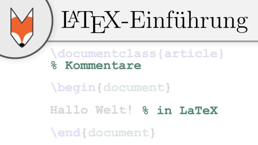 Cover: LaTeX-Einführung 3 - Kommentare