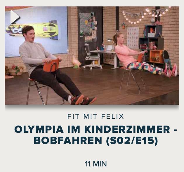 Cover: Fit mit Felix : Olympia im Kinderzimmer - Bobfahren (S02/E15)