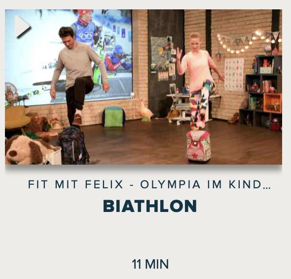 Cover: Fit mit Felix - Olympia im Kinderzimmer : Biathlon
