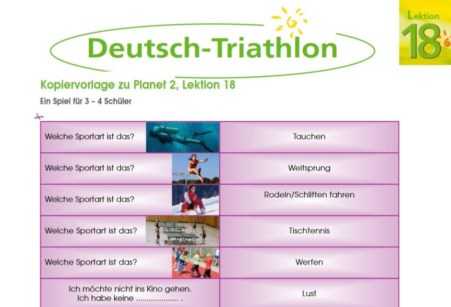 Cover: Deutsch-Triathlon