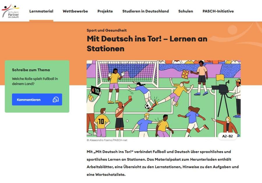 Cover: Mit Deutsch ins Tor!  | Lernen an Stationen