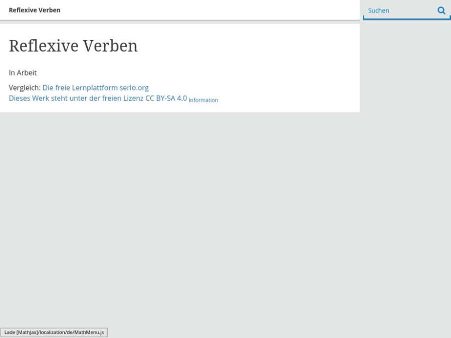Cover: Reflexive Verben