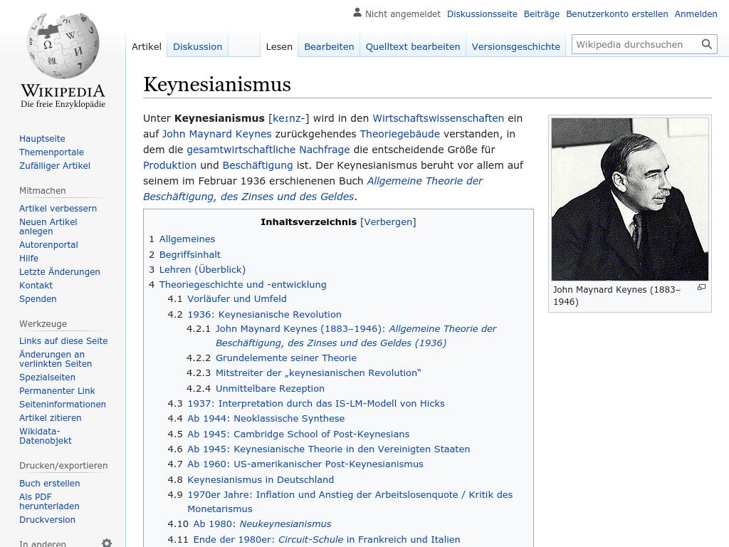 Cover: Keynesianismus - wikipedia.org