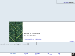 Cover: MathePrisma - Binäre Suchbäume