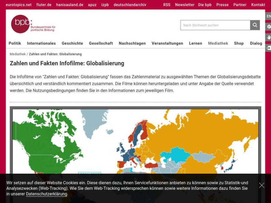 Cover: Zahlen und Fakten Infofilme: Globalisierung