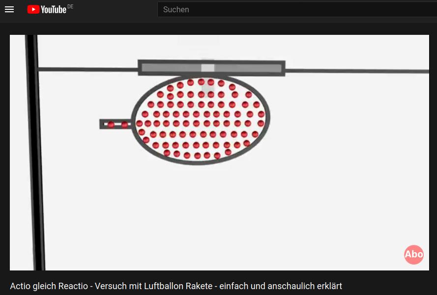 Cover: Actio gleich Reactio - Versuch mit Luftballon Rakete