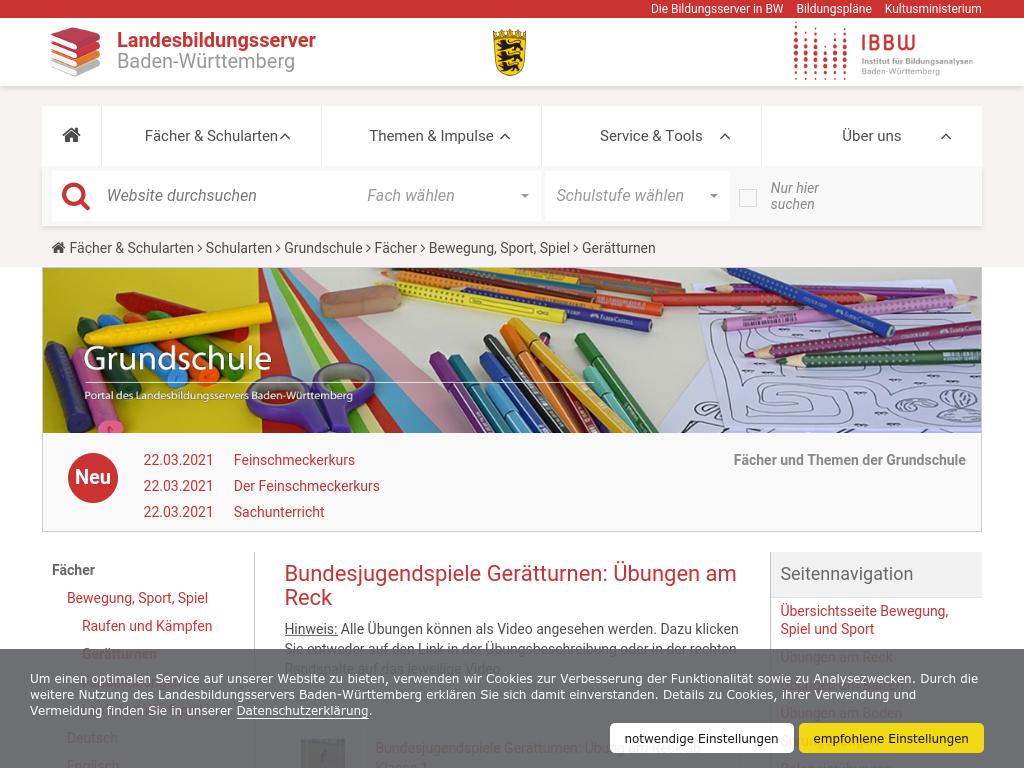 Cover: Bundesjugendspiele Gerätturnen: Übungen am Reck