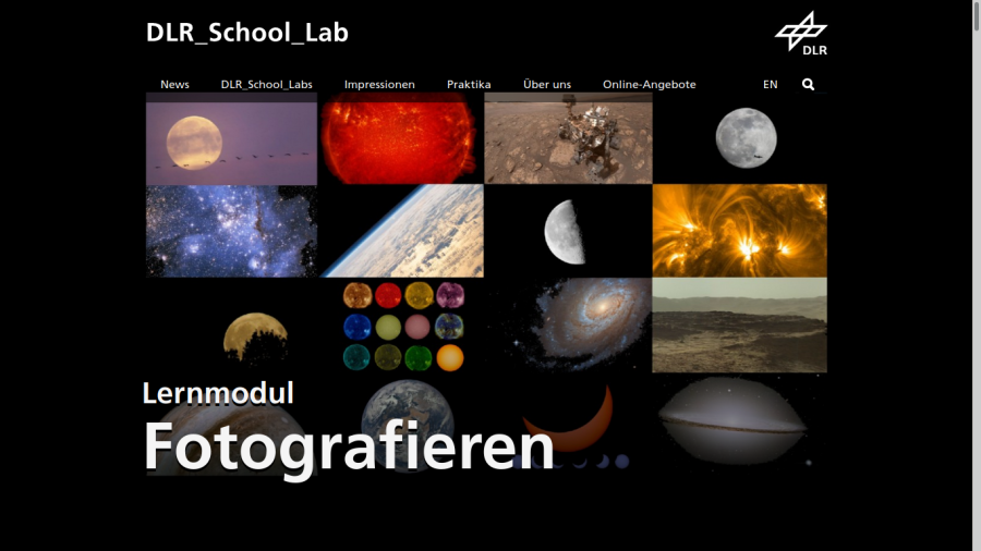 Cover: Lernmodul Fotografie des DLR_School_Lab