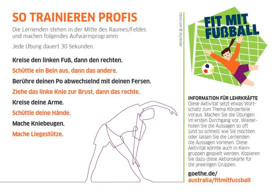 Cover: So trainieren Profis | Deutsch lernen mit Bewegung
