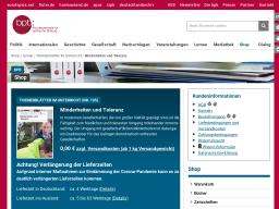 Cover: Minderheiten und Toleranz - Themenblätter