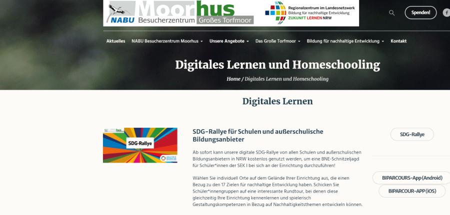 Cover: Digitales Lernen  SDG-Rallye und Videos