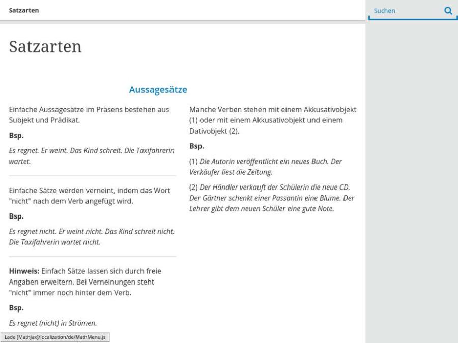 Cover: Satzarten