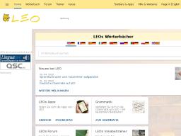 LEO.org | Wörterbücher in verschiedensten Kombinationen