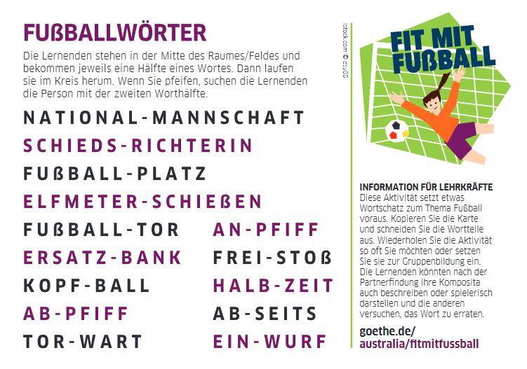 Cover: Fußballwörter |  Deutsch lernen mit Bewegung
