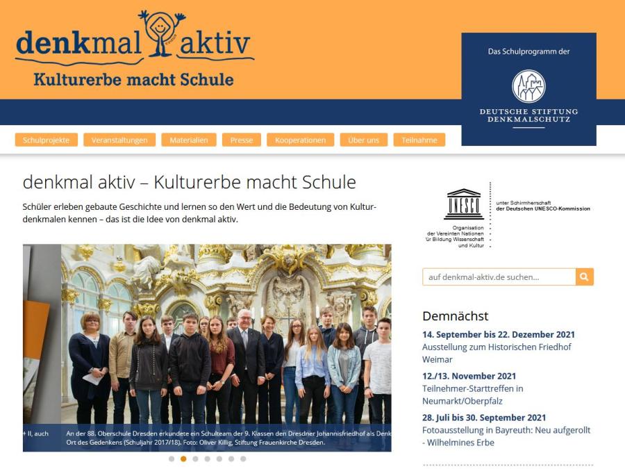 Cover: denkmal aktiv - Kulturerbe macht Schule