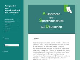 Cover: Aussprache und Sprechausdruck des Deutschen