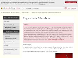 Cover: Magnetismus Arbeitsblatt