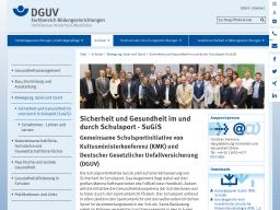 Cover: DGUV FB Bildung Schulsport