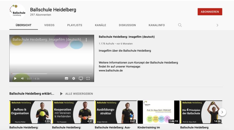 Cover: Ballschule Heidelberg - YouTube