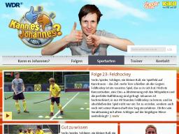Cover: Folge 23: Feldhockey - Sportarten  - Kann es Johannes? - TV   - Kinder