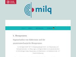 Cover: Messprozess - milq