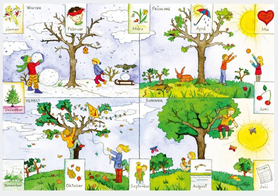 Cover: Wimmelbild | Jahreszeiten