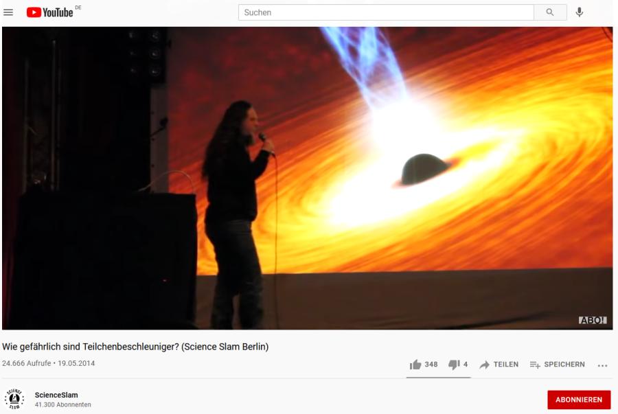 Cover: Wie gefährlich sind Teilchenbeschleuniger? (Science Slam Berlin)