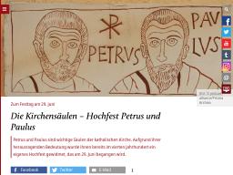 Cover: Bedeutung des Hochfestes Petrus und Paulus - katholisch.de