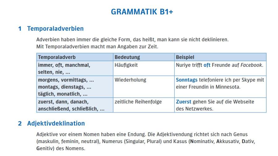 Cover: Grammatikübersicht   B1+