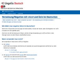 Cover: Verneinung mit NICHT und KEIN im Deutschen