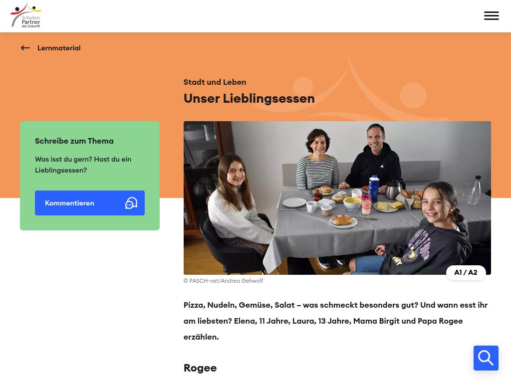 Cover: Unser Lieblingsessen