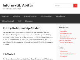 Cover: Entity-Relationship-Modell – Informatik Abitur