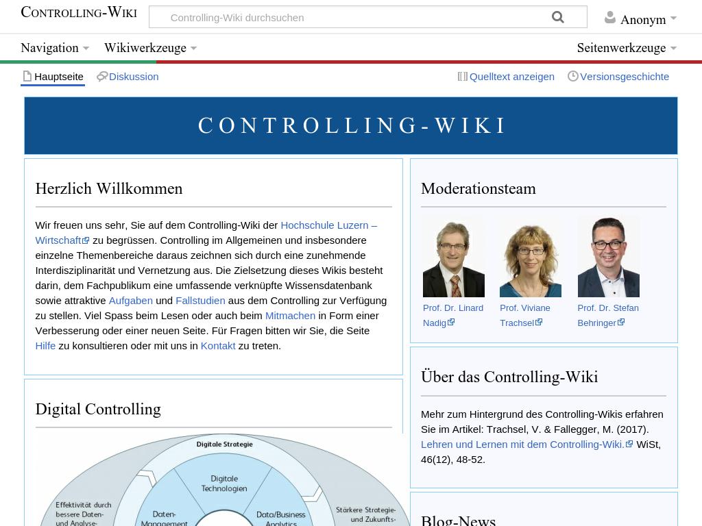Cover: Controlling-Wiki der Hochschule Luzern