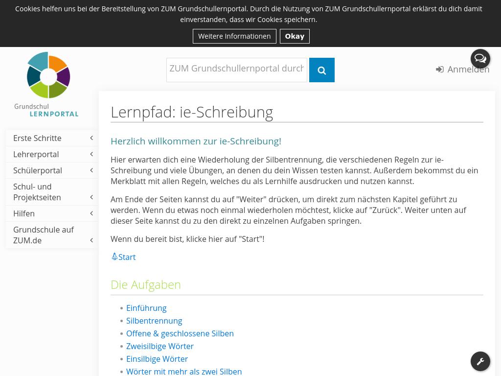Cover: Lernpfad: ie-Schreibung