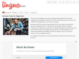 Cover: Lingua.com   Deutsche Texte lesen