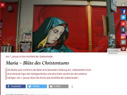 Cover: Maria – Blüte des Christentums - katholisch.de
