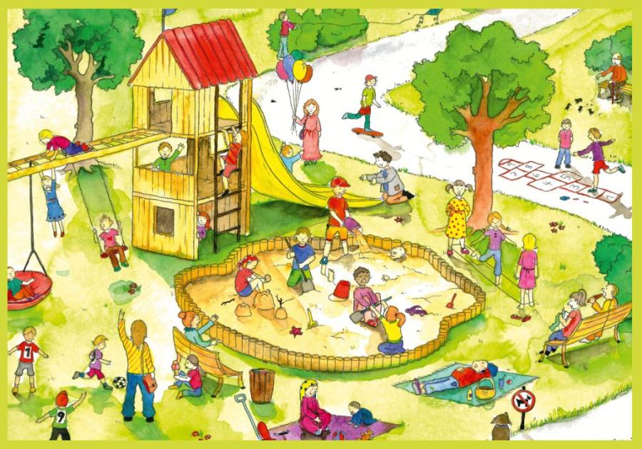 Cover: Wimmelbild   Spielplatz